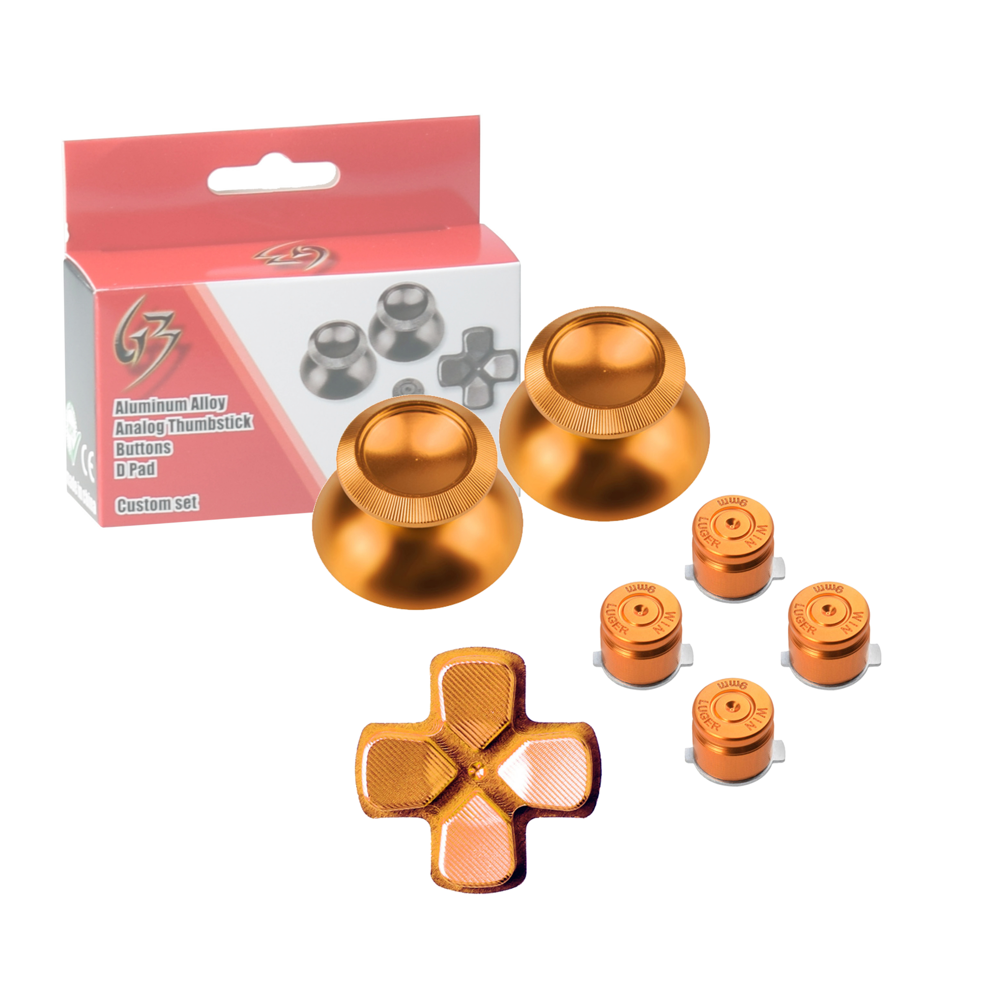 Gam3Gear Metal Aluminium Thumbstick D-pad Bullet Button Mod Set for